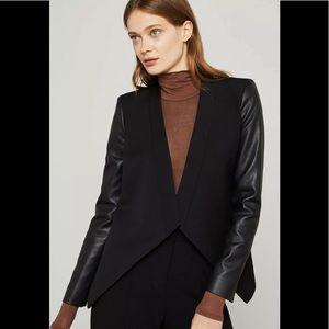 BCBG Abree maxmara leather stylish jacket coat XS